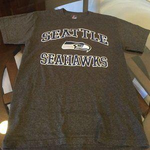 Seattle Seahawks Gray Majestic T-Shirt Small